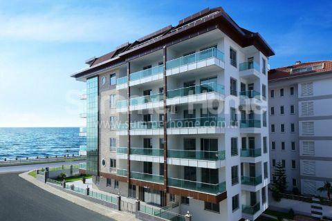 Appartements avec vue sur la mer dans les environs verdoyants de Kestel, Alanya
