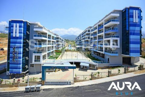 One Bedroom Sea View Apartments in Calm District in Alanya