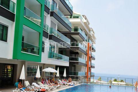 Duplex appartementen met ruime tuin in Alanya