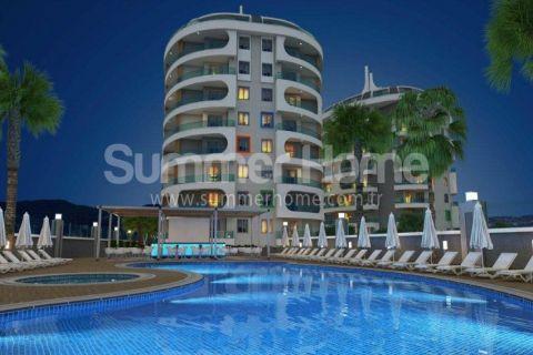 Appartements de luxe à des prix raisonnables avec une vue magnifique à Alanya