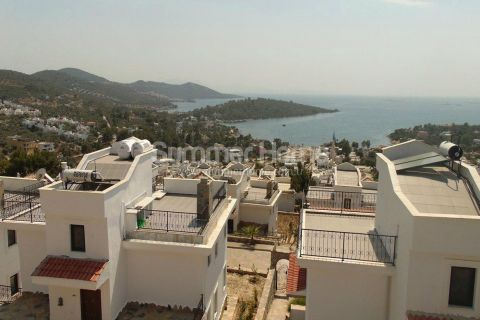Beautiful Duplex Villas with Sea View Terrace in Bodrum