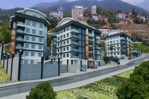 Aivan uusia ylellisiä asuntoja lähellä suurimpia kauppakeskuksia Alanyassa