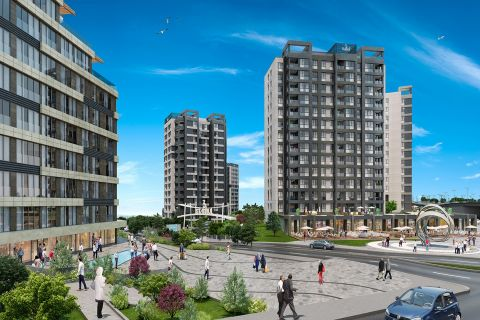 Modern Flats Suitable for Living with Beautiful Surroundings in Basaksehir,Istanbul