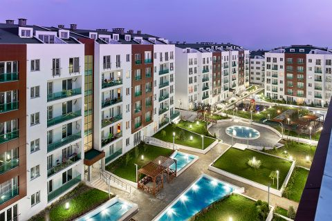 Modern Apartments and Duplex Apartments  with City View in Beylikduzu,Istanbul