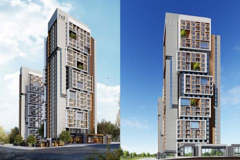 New Built Modern Homes Next to the Metro Line in Basin Express,Istanbul