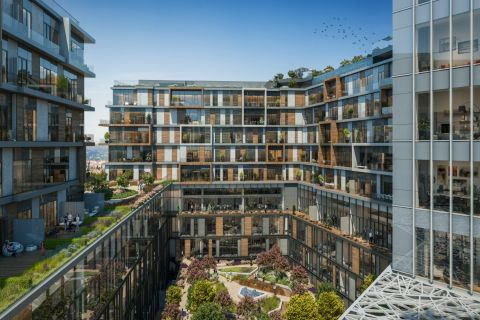 Uusi rakennettu projekti, joka soveltuu asumiseen Sislissä, Istanbulissa