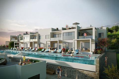 Luxurious Apartments with Infinity Pool on Hill Position in Esentepe,North Cyprus