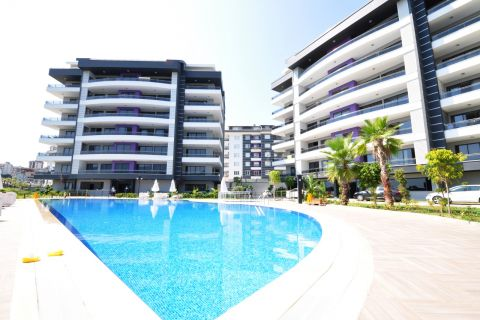 Modern Apartments and Duplex Apartments with Spacious Living Area in Cikcilli,Alanya