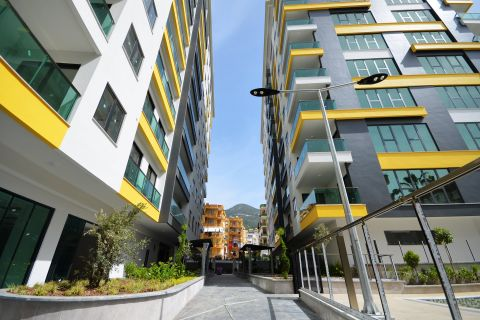 New-Built Apartments with Breathtaking View Close to Seaside of Alanya