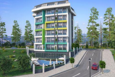 Appartements  S+1  a bas prix pres de la mer a Avsallar, Alanya
