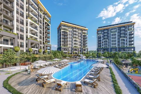 Parduodami visiškai nauji butai gražiame komplekse Avsallar rajone, Alanijoje