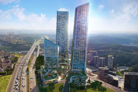 Brand New and Deluxe Towers with 360-Degree Views of Istanbul in Maslak, Istanbul