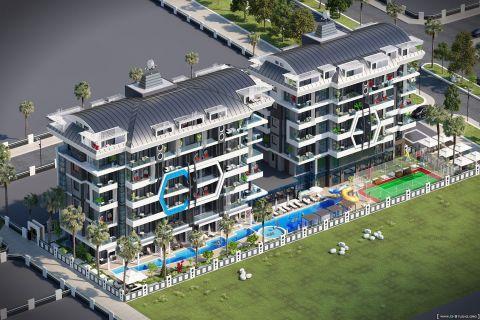 Naujai pastatyti apartamentai netoli paplūdimio Kargicak