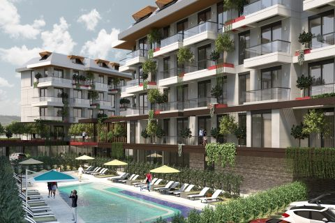 Appartementen in de Green Paradise in Oba, Alanya