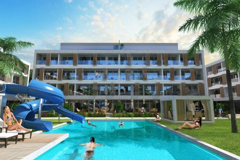 apartments for sale in complex with large swimming pool, famagusta