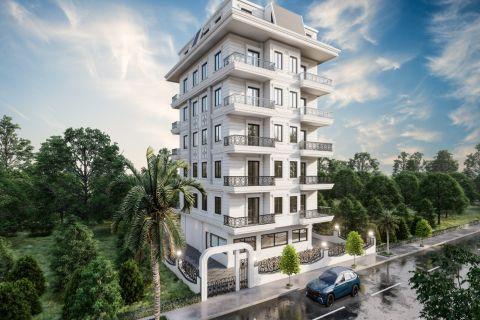 Nya lägenheter i ett bekvämt område i Mahmutlar