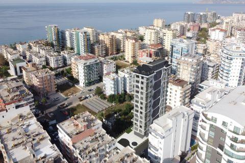 Lägenheter i ett höghus i Mahmutlar