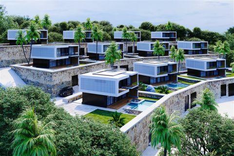 Villa kompleks med panorama udsigt over Alanya