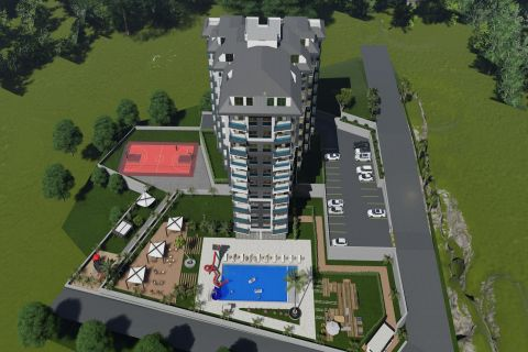 A gem like complex with many apartments in Avsallar