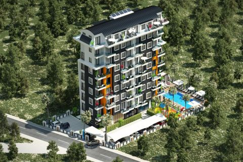 New single block project offering cozy apartments in Avsallar