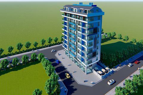 Моноблочный жилой комплекс в приятном месте Махмутлара