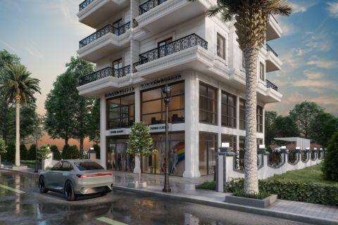 Просторные апартаменты в качественном моноблочном жилом комплексе в Каргыджаке