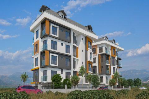 Красивый жилой комплекс с лофт-апартаментами в центре Аланьи