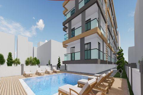 Апартаменты с балконом в новом жилой комплексе в центре Аланьи