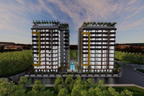Ein-Zimmer-Wohnungen zum Verkauf in der Nähe des internationalen Flughafens Antalya