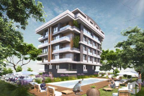 Bezugsfertige Wohnungen in einem attraktiven Komplex in Konyaalti