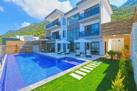 Three-bedroom contemporary villa with indoor swimming pool in Kalkan