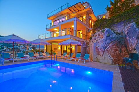 Private luxury five-bedroom villa with spectacular view in Kalkan