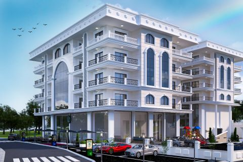 French-style complex built in Alanya city centre