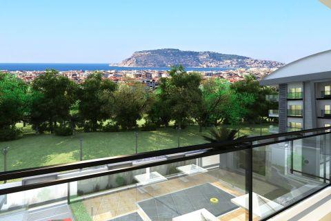 Hervorragender Komplex mit Licht und Panoramablick auf die Stadt Alanya