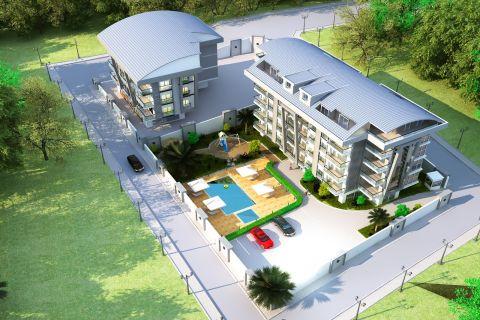 Прекрасный светлый жилой комплекс с панорамным видом на Аланью