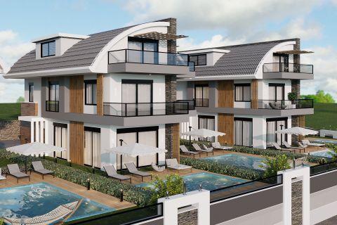 Moderne Doppelhaushälften in kleiner Anlage in Avsallar